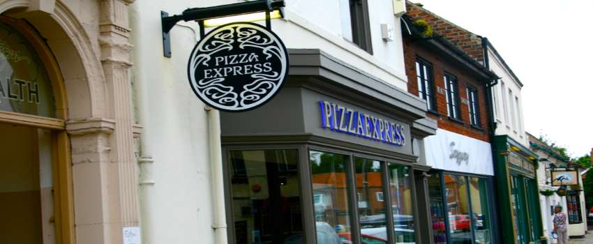 Pizza Express High Street Restaurants Currently Struggling