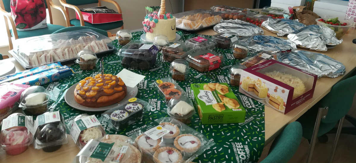Macmillan coffee morning buffet